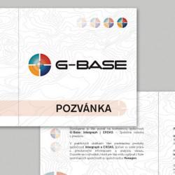 Grafický návrh pozvánky G-BASE