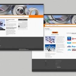 Web stránka Europea SpA SK